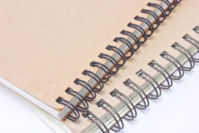 подвързване с метални спирали